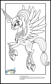 Small Picture My Little Pony Princess Celestia Coloring Pages Coloring Kids