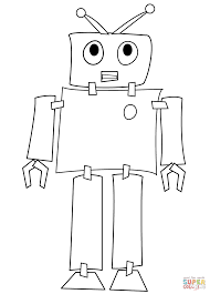 Small Picture Shy Robot coloring page Free Printable Coloring Pages