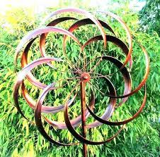 tulip wind spinner spinners kinetic sculpture garden copper