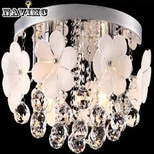 flush mounted flower crystal chandelier light fixture cristal res aisle porch hallway corridor lamp for ceiling ceiling lighting hanging lamps from