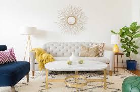 mid century modern eclectic living room. Modern Mid Century Eclectic Living Room With Pops Of Color C