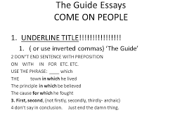 the guide essays come on people underline title the guide essays come on people 1 underline title