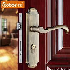 high quality door lock bedroom door interior room door solid wood gate locks door handle simple double lock tongue with 3 keys in locks from home