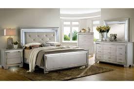 Allura 1916-1 Silver Bedroom Set by Furniture Of America CM7979SV ...