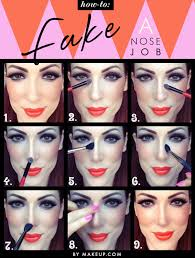 how to contour your nose with makeup tutorial