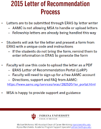 faculty letter of recommendation new medical student letter of recommendation process for