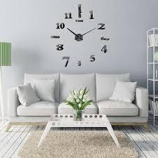 living room wall clocks. Decorative Wall Mirrors For Living Room Inspirational Black Mirror Clock 3d Hanging Bracket Clocks S