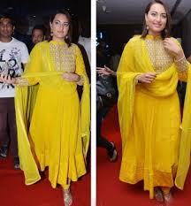 makeup for yellow sari suit sonakshi