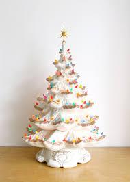 Vintage White Christmas Tree Lights Large Vintage Ceramic Christmas Tree Electric Vintage
