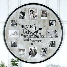 extra large wall clock rustic large wall clock extra large rustic photograph frame wall clock large