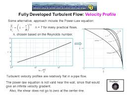 fully developed turbulent flow velocity profile