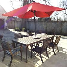 outdoor furniture crate and barrel.  Furniture Crate And Barrel Patio Furniture Outdoor Teak Table Chair  Set With Umbrella   To Outdoor Furniture Crate And Barrel U