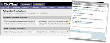 Automated Timesheet Employee Management Automated Notification Clicktime For