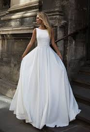 Simple White Bridal Dresslace Prom Dresscustom Made Evening Dress