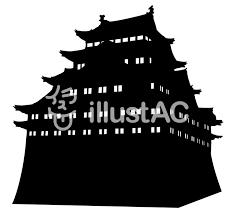 日本の城 シルエットイラスト No 1192753無料イラストなら