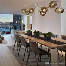 2016 lindsey adelman chandeliers lighting modern lamp novelty pendant lamp natural tree branch suspension clear and gray glass for choice bronze chandelier