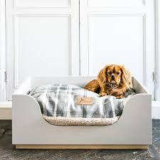 luxury wooden dog beds oak dog beds and cushion