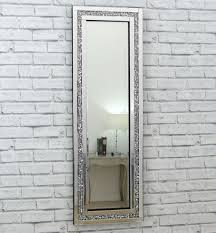 Long length mirror Room Gatsby Crystal Long Silver Glass Framed Full Length Bevelled Wall Mirror 48x16 Ebay Gatsby Crystal Silver Glass Framed Full Long Bevelled Wall Mirror