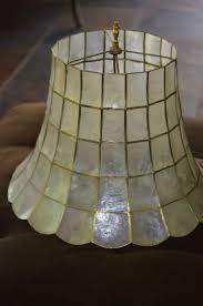 Capiz Shell Lamp Shade, Rare Large Vintage Shade
