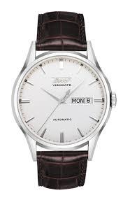 tissot heritage visodate automatic t0194301603101 tissot heritage visodate automatic watch silver dial and brown leather strap