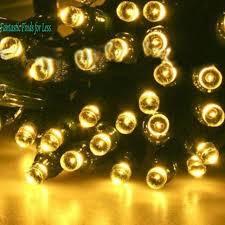 sogrand solar lights string fairy lights 200 led outdoor warm white garden