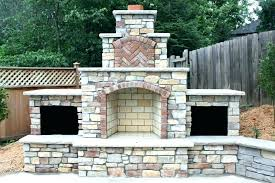 patio fireplace designs plans outdoor