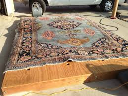 clean area rug at home