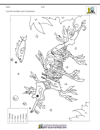 Combine math facts with coloring in this free printable color by number math worksheet. Printable Color By Numbers Worksheets
