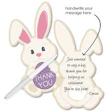 Thank You Easter Hippity Hoppity Shaped Thank You Cards Easter Bunny Party Thank You Note Cards With Envelopes Set Of 12