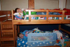 bedroom twin over full bunk bed with trundle  low profile bunk