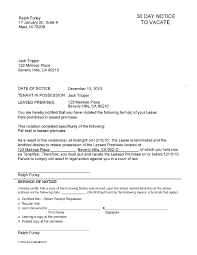 maryland notice to vacate thirty day notice letter