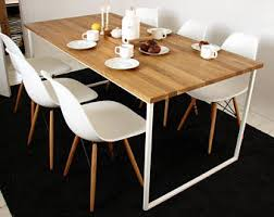 basic kitchen with table. Delighful With Scandinavian Dining Table BASIC TRE Handmade Modern Table White Steel  Frame Kitchen With Basic Kitchen Table I