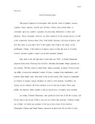 Short Philosophy Paper