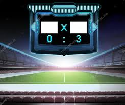 Voetbalstadion Met Score Scherm Stockfoto Adikk 48748427