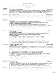Business School Resume Sample Harvard Business School Resume Template Best Resume Examples 5