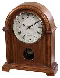 lnc wood pendulum clock hourly strikes table clock japan seiko movement