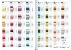 Conversion Chart Anchor To Dmc Pantone Thread Conversion Online Charts Collection