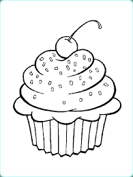 Cake Color Page Coloring Pages Of Cakes Cute Cupcake Shopkins