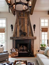 reclaimed wood fireplace mantel rustic