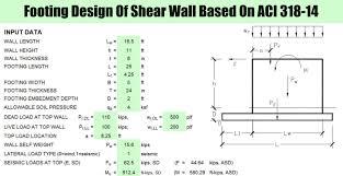 Shear Link Design Footing Design Of Shear Wall Based On Aci 318 14