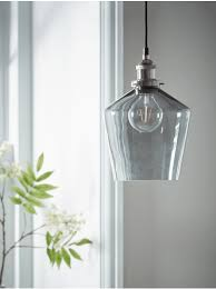 grey glass pendant