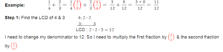 operations with fractions and decimals