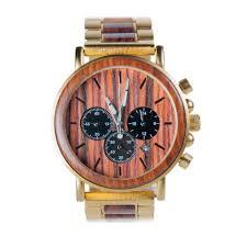 gold xhron series metal and mahogany wood watch best unique wood watch best mens wood watch