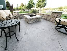stamped concrete patio with fireplace. Stamped Concrete Fire Pits For Your Patio And Other Decorative Designs By Aesthetic With Fireplace