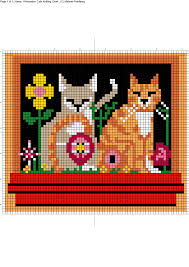 Cat Knitting Chart Witchwolfweb Creations Charts Window Box Cats In Colour