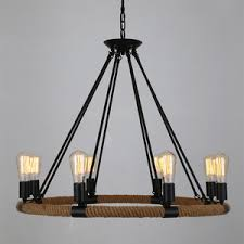industrial chandelier with 8 light wrought iron 326 inch diameter cheap rustic lighting