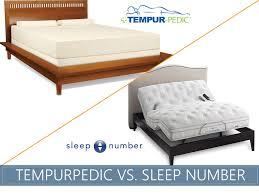 Tempurpedic Pillow Selector Chart Tempurpedic Vs Sleep Number Comparison The Sleep Advisor