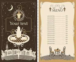 Menu Board Illustration Cafe Menu Restaurant Template Hand