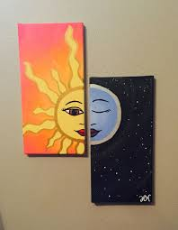 willpower easy canvas painting ideas for beginners we live by the sun feel moon art