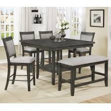 Gray kitchen table Black Claremont Fulton 6piece Dining Set In Gray Nebraska Furniture Mart Dining Sets Nebraska Furniture Mart